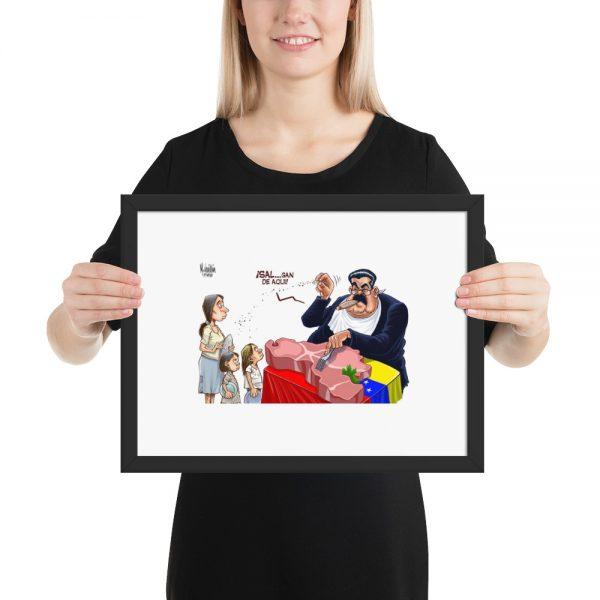 Poster de Caricaturas de Nicolas Maduro y Hugo Chavez